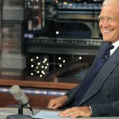 Poppy Montgomery; David Letterman